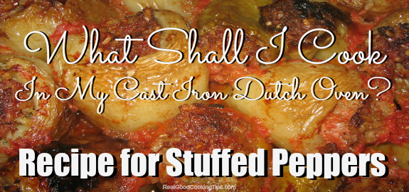 Easy Stuffed Peppers Recipe for Dutch Oven
