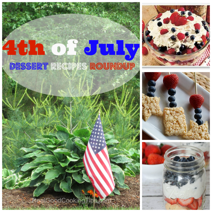 4th of July Independence Day Dessert Recipes Roundup