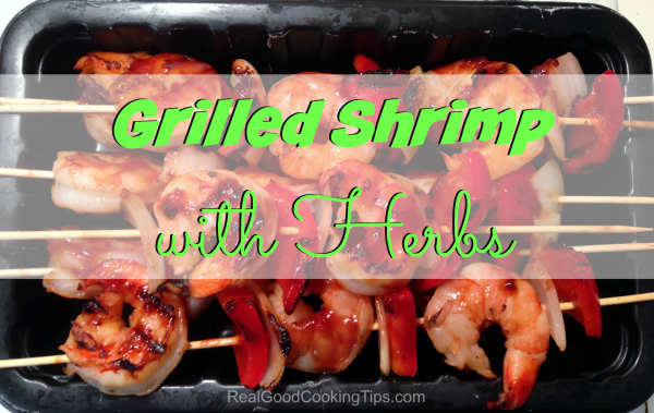 Grilled Shrimp with Herbs