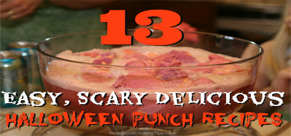 13 easy scary halloween punch recipes