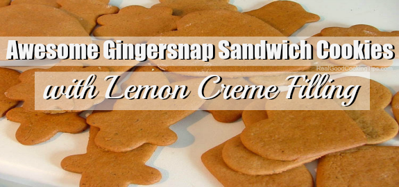 Awesome Gingersnap Sandwich Sandwich Cookies