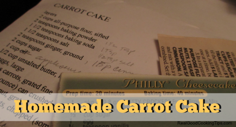 Homemade Carrot Cake Actual Recipe